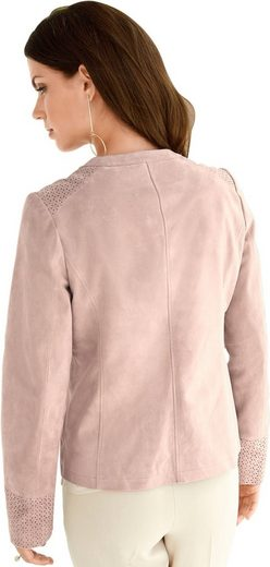 Lady Leather Blazer With Perforations