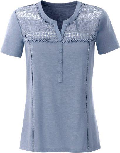 Classic Inspirationen Shirt mit Spitze in Häkeloptik
