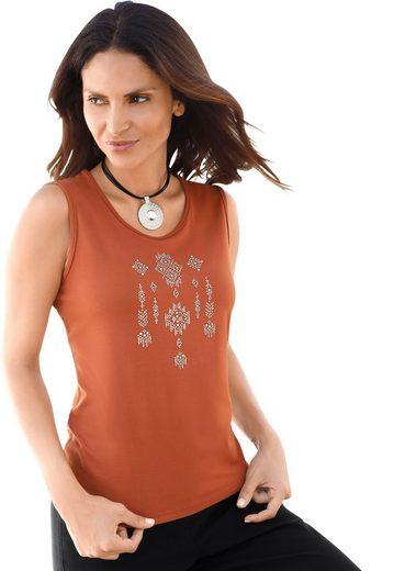 Classic Inspirationen Shirttop mit Zierplättchen-Applikation