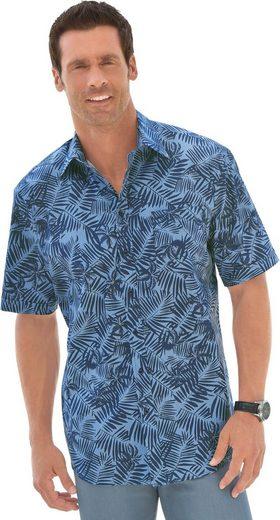 Marco Donati Kurzarm-Hemd mit Palmen-Muster
