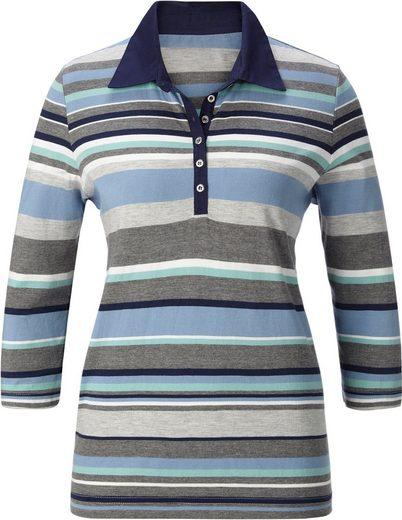 Collection L. Poloshirt mit 3/4-Ärmeln