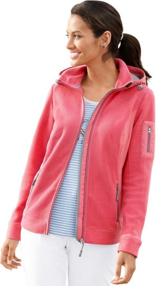 Damen Collection L. Fleece-Jacke mit Reflektoren rot | 08935267225274