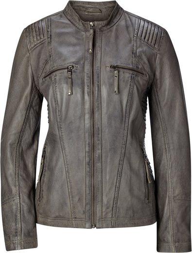 Classic Inspirationen Leder-Jacke in leicht taillierter Form