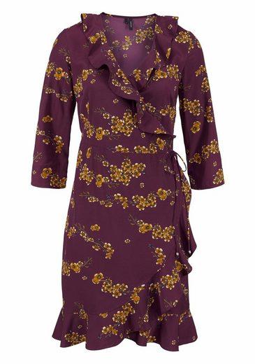 Vero Moda Wickelkleid HENNA, mit Rüschen