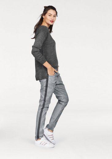 Please Jeans Strickpullover, vorne kürzer geschnitten