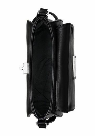 Buffalo Umhängetasche, Crossbody Bag, mit silberfarbenen Verschluss