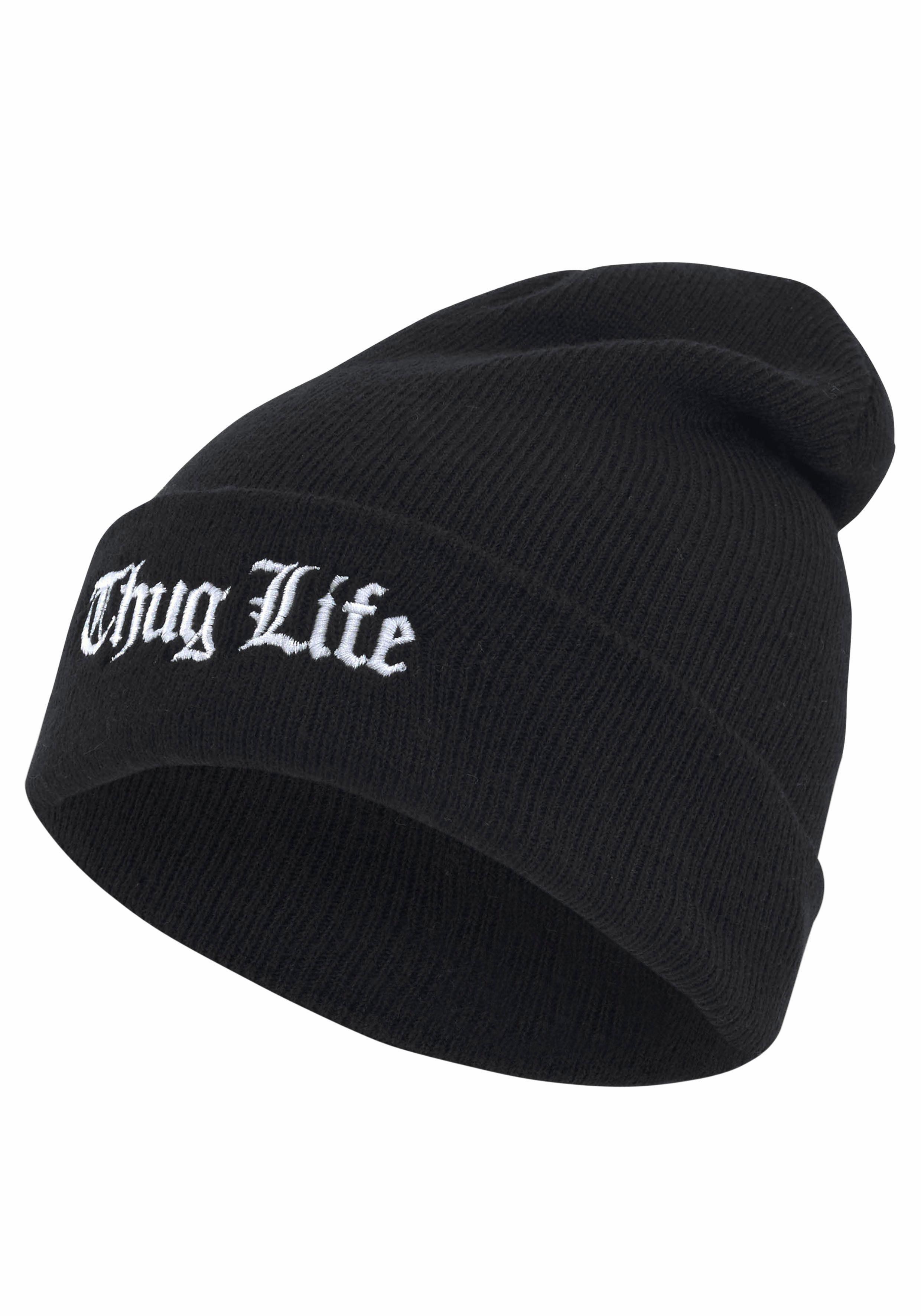 Thug Life Strickmütze Old English Beanie