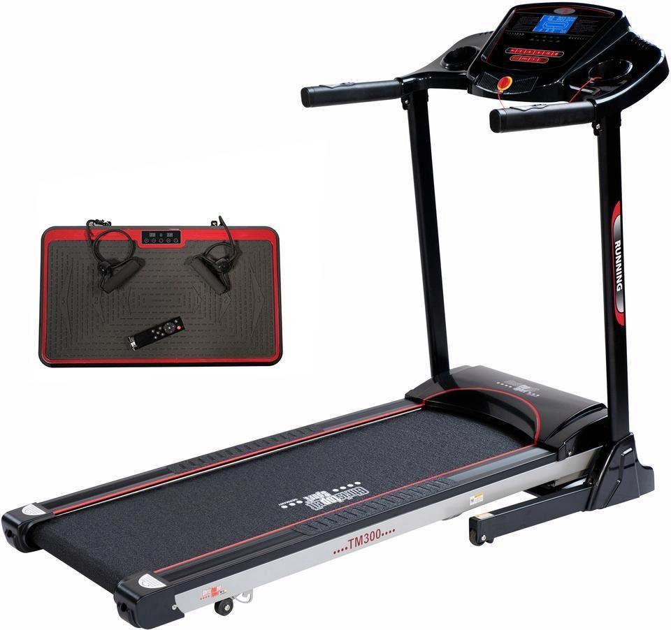 Christopeit Sport® Laufband + Vibrationsplatte, »TM 300 + Vibro Power 1000«