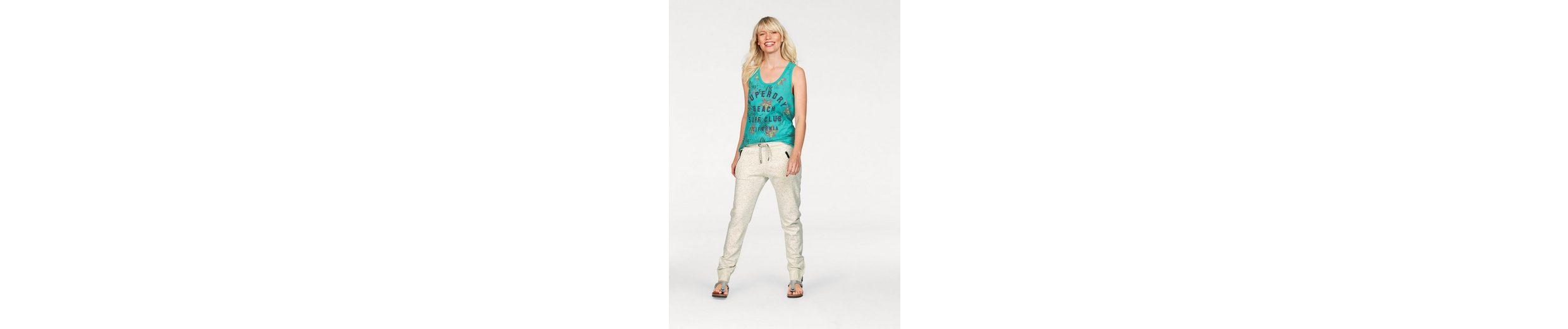 Superdry Tanktop SURF CLUB AOP OVERDYED VEST, im tropical Allover-Design