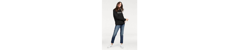 Please Jeans Sweatshirt, mit Statement-Print