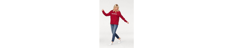 Please Jeans Sweater, mit Statement-Print