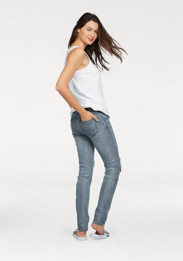 Superdry Slim-fit-Jeans IMOGEN SLIM JEANS, im Used-Look