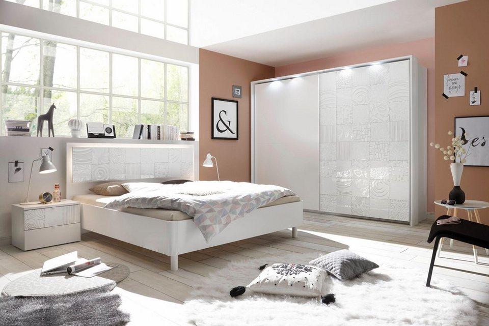 LC Schlafzimmer-Set »Miro«, Set aus Schrank, Bett und 2 Nachttischen online  kaufen | OTTO