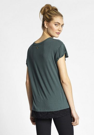 Khujo Crew-neck Shirt Harmonia, With Peak Use At The Hem
