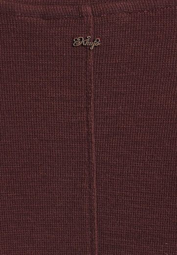 khujo Langarmshirt HARANA, mit Ziernähten