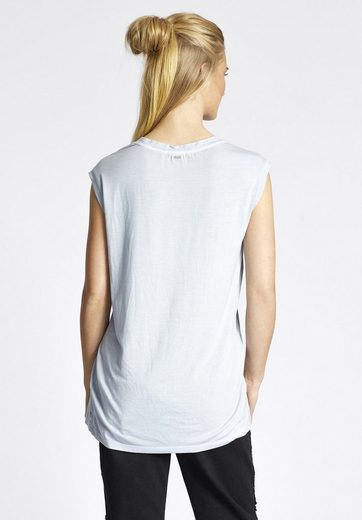 Khujo Crew-neck Shirt Sea, Cut Straight