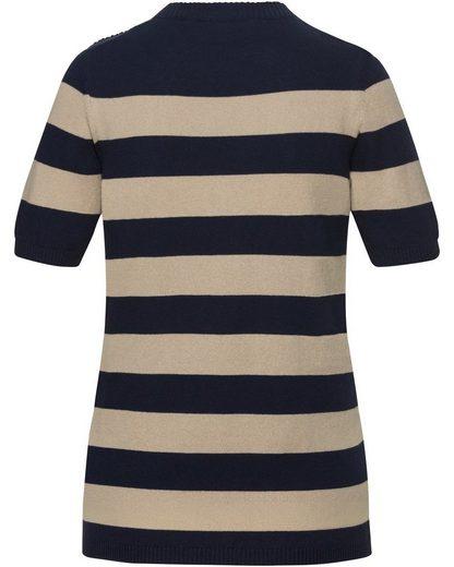 Brigitte Von Beautiful Rock Short Sleeve-pullover With Block Stripes