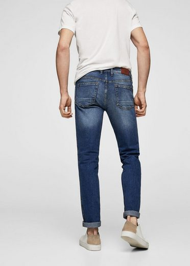 MANGO MAN Dunkle Slim Fit Jeans Tim