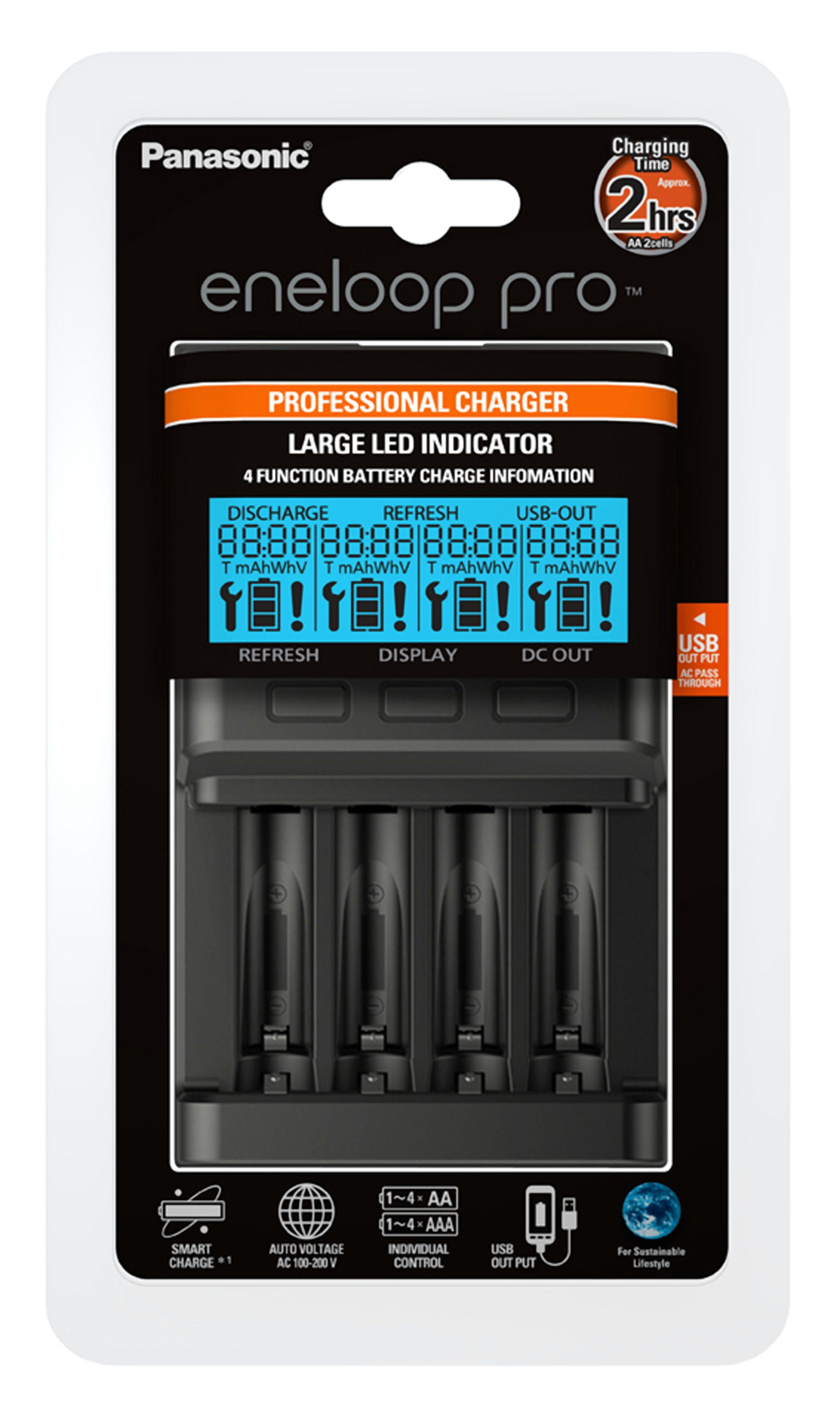 Panasonic eneloop pro Ladegerät mit LCD-Display »BQ-CC65E«