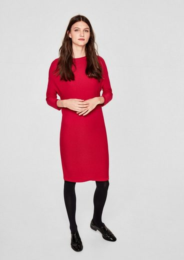 s.Oliver RED LABEL Lässiges Kleid aus Rippstrick