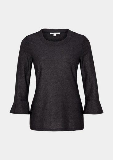 COMMA 3/4-Arm Shirt aus Glitzergarnen