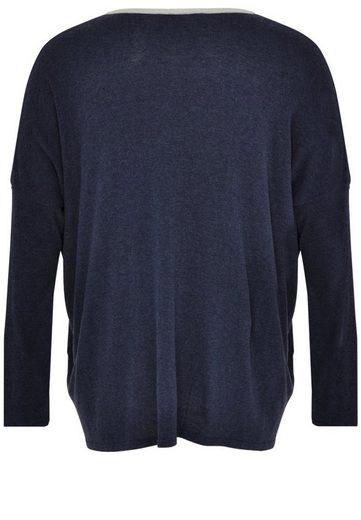 Yoek V-Ausschnitt-Pullover TOSCA, mit langen Ärmeln