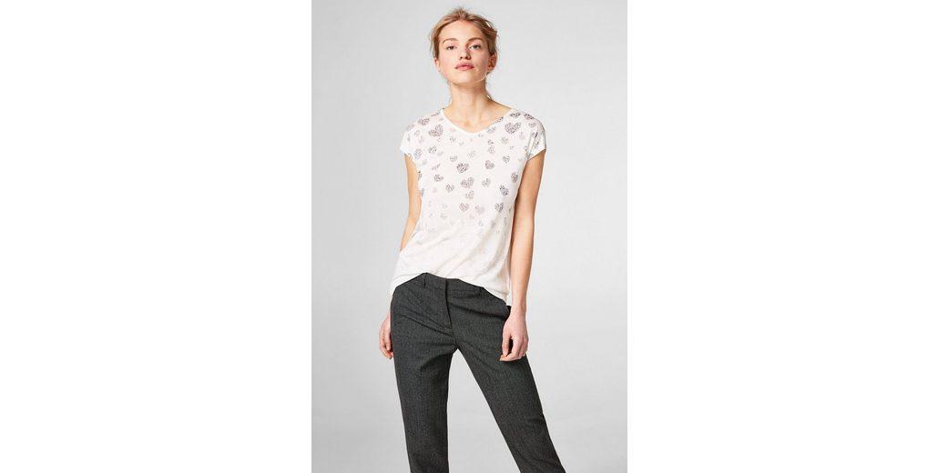 ESPRIT COLLECTION Fließendes Shirt mit glitzerndem Folienprint Günstig Kaufen Angebot Sehr Billig Freies Verschiffen Der Suche Nach Komfortabel Zu Verkaufen Q6D9p8m2k2