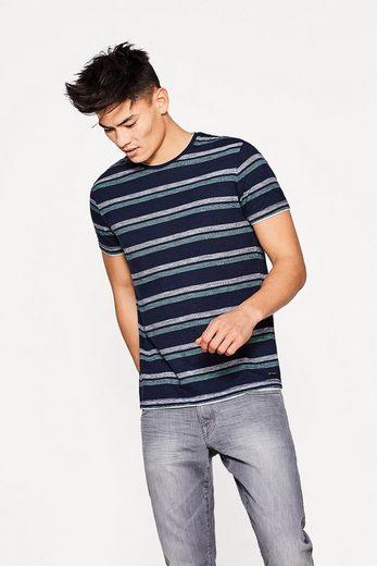 EDC BY ESPRIT Gestreiftes T-Shirt aus Baumwolle