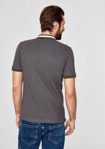 s.Oliver RED LABEL Poloshirt aus Stretch-Piqué