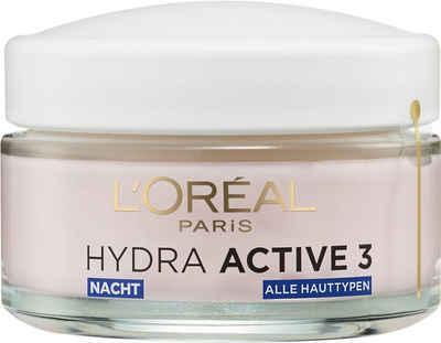 L'ORÉAL PARIS Nachtcreme »Hydra Active 3 Nacht«, Mit Aktiv-Stoffen