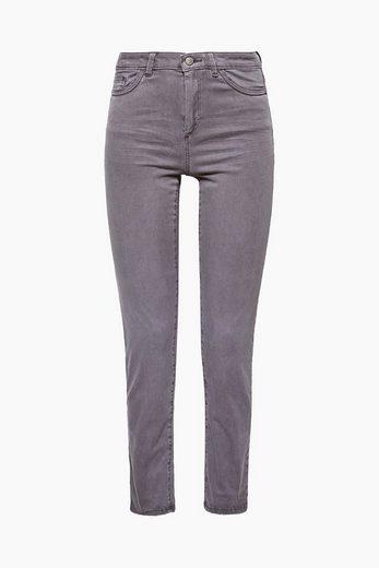 ESPRIT Satin-Stretch-Pants mit softer Oberfläche