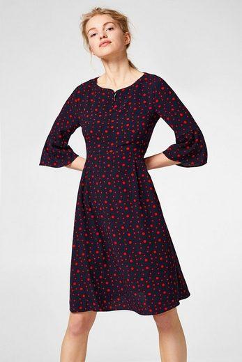 EDC BY ESPRIT Fließendes Kleid mit Punkten