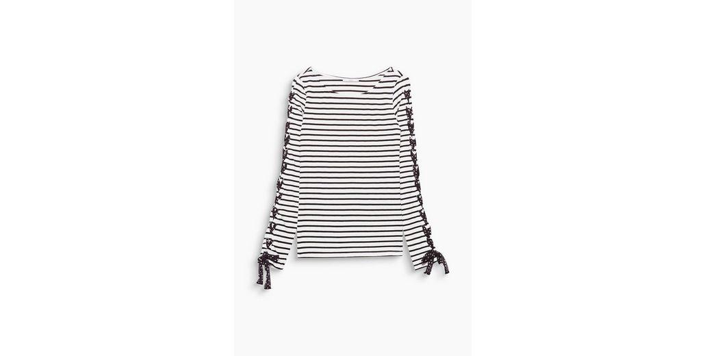 EDC BY ESPRIT Ringel-Shirt mit Deko-Schnürung Verschleißfestigkeit YsMMkLHme