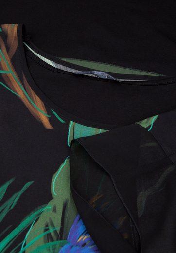 Doris Streich Jerseykleid mit Poncho-Überwurf, große Größen