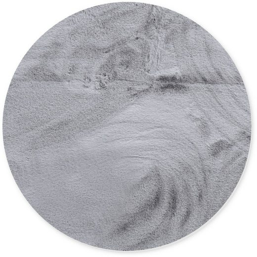Fellteppich »Kuschelteppich Chiara«, Gino Falcone, rund, Höhe 30 mm, Kunstfell, Kaninchenfell-Haptik, besonders weich, Wohnzimmer