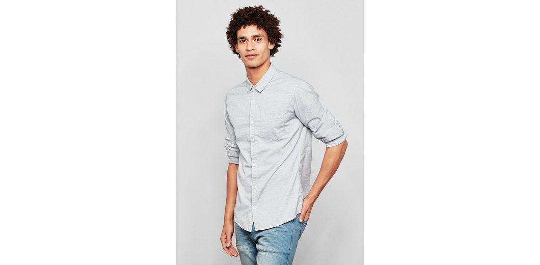 Q/S designed by Extra Slim: Meliertes Hemd Auslass Sneakernews Billig Verkauf Bester Großhandel oCLJmlqTZ
