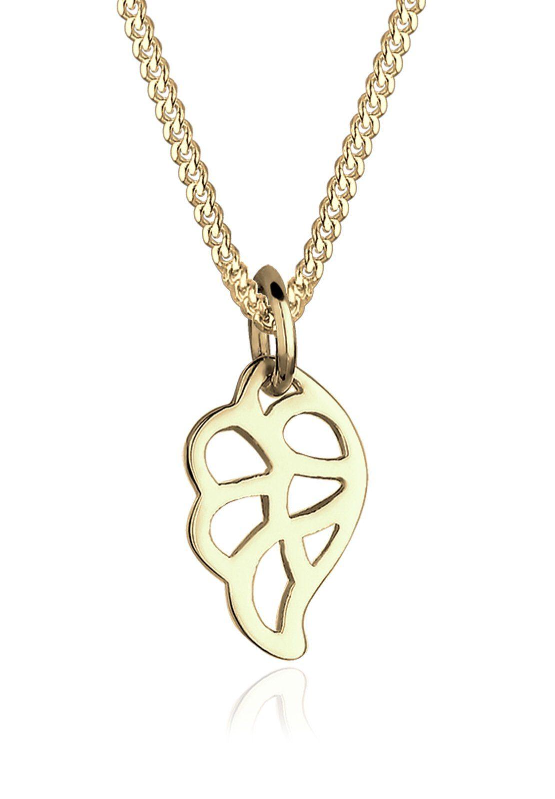 Elli Halskette »Flügel Ornament Cut Out 375 Gelbgold Yara«