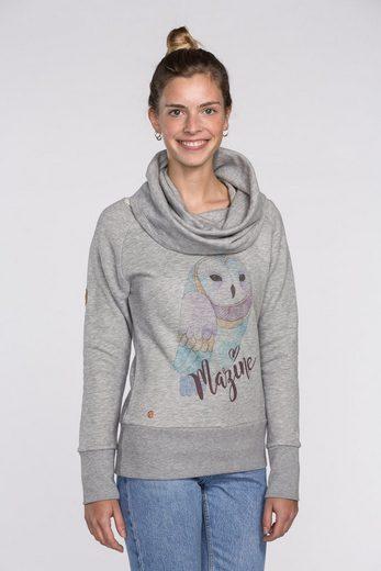 Mazine Sweatshirt mit Eulen-Print