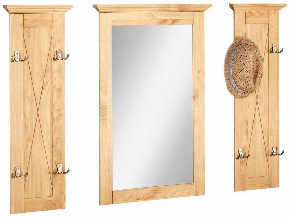 home affaire garderobenpaneel alva mit spiegel in 3. Black Bedroom Furniture Sets. Home Design Ideas