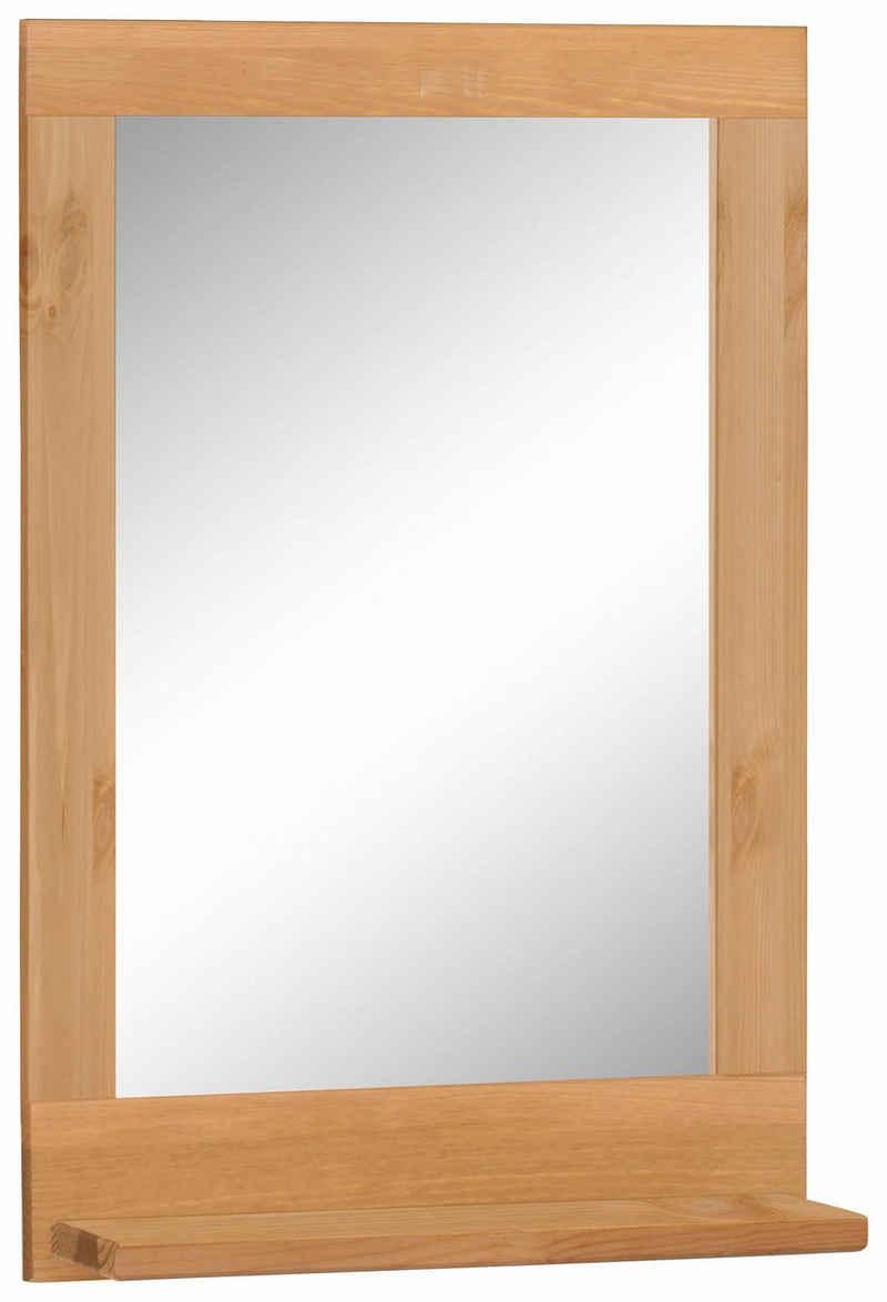 Home affaire Wandspiegel »Josie«, aus Massivholz, Kiefer, mit Ablage