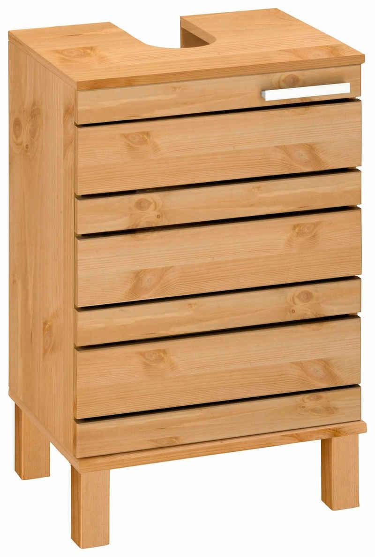 Home affaire Waschbeckenunterschrank »Josie« Breite 40 cm, aus Massivholz, Metallgriff, 1 Tür
