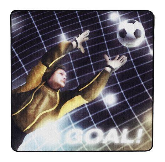 Kinderteppich »Fussball 3606«, Böing Carpet, quadratisch, Höhe 2 mm, Fußball, weiche Microfaser