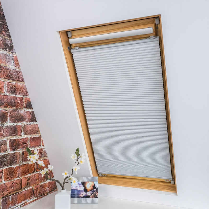 Dachfensterplissee »Universal Dachfenster-Plissee«, Liedeco, verdunkelnd, ohne Bohren, verspannt, Fixmaß