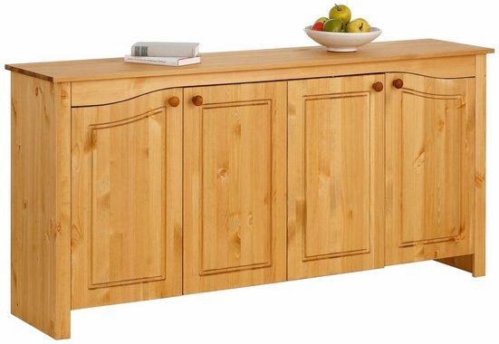Home affaire Sideboard »Rialto«, mit dekorativen Fräsungen, Breite 167 cm
