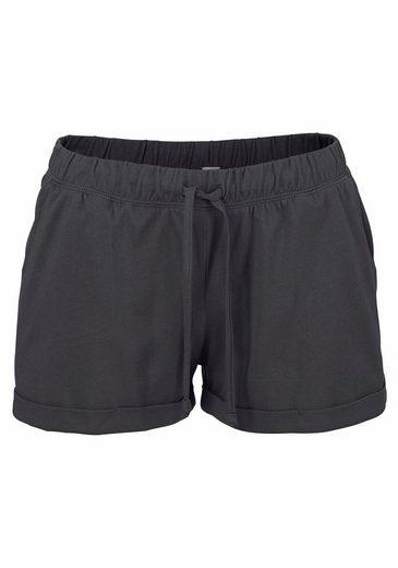 Bench. Shorty Shorts With Basic And Mottled Round Neck Shirt