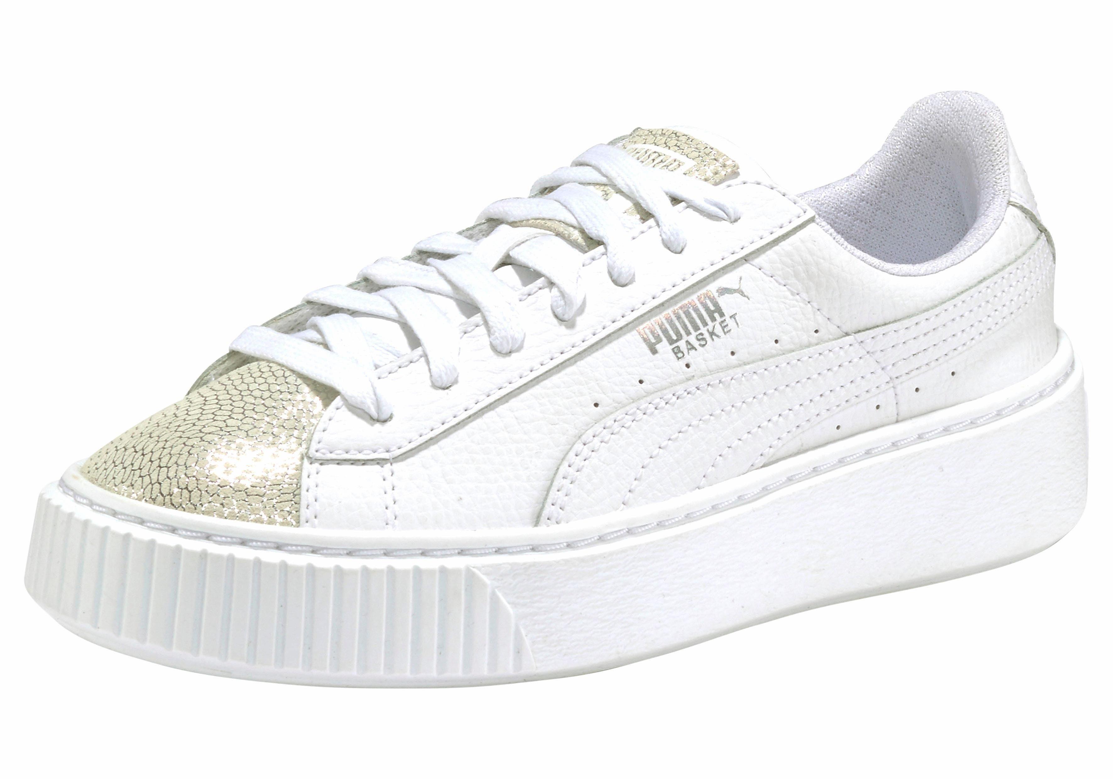 PUMA Basket Platform Glitzer Sneaker kaufen  weiß