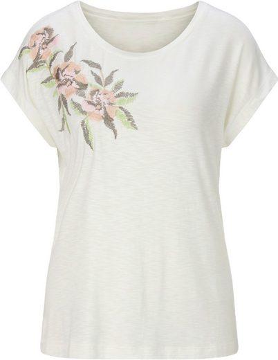 Alessa W. Shirt mit Blüten-Stickerei