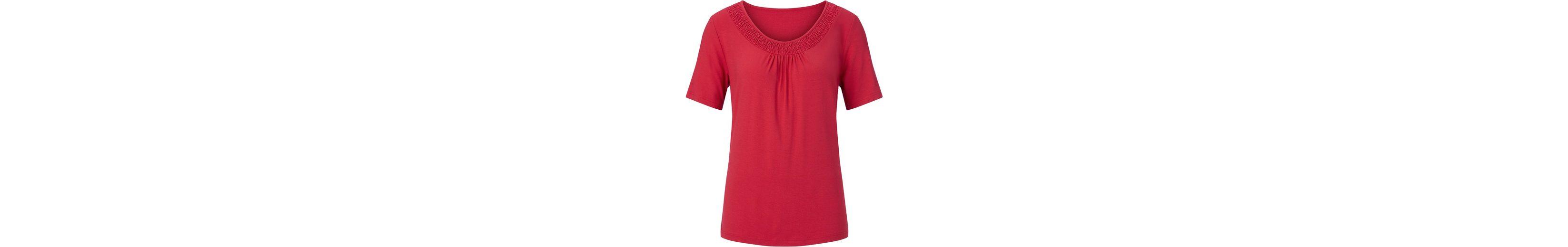 Alessa W. Shirt mit Smok-Bordüre Freies Verschiffen Browse Billig Verkauf Aus Deutschland Ud4IG
