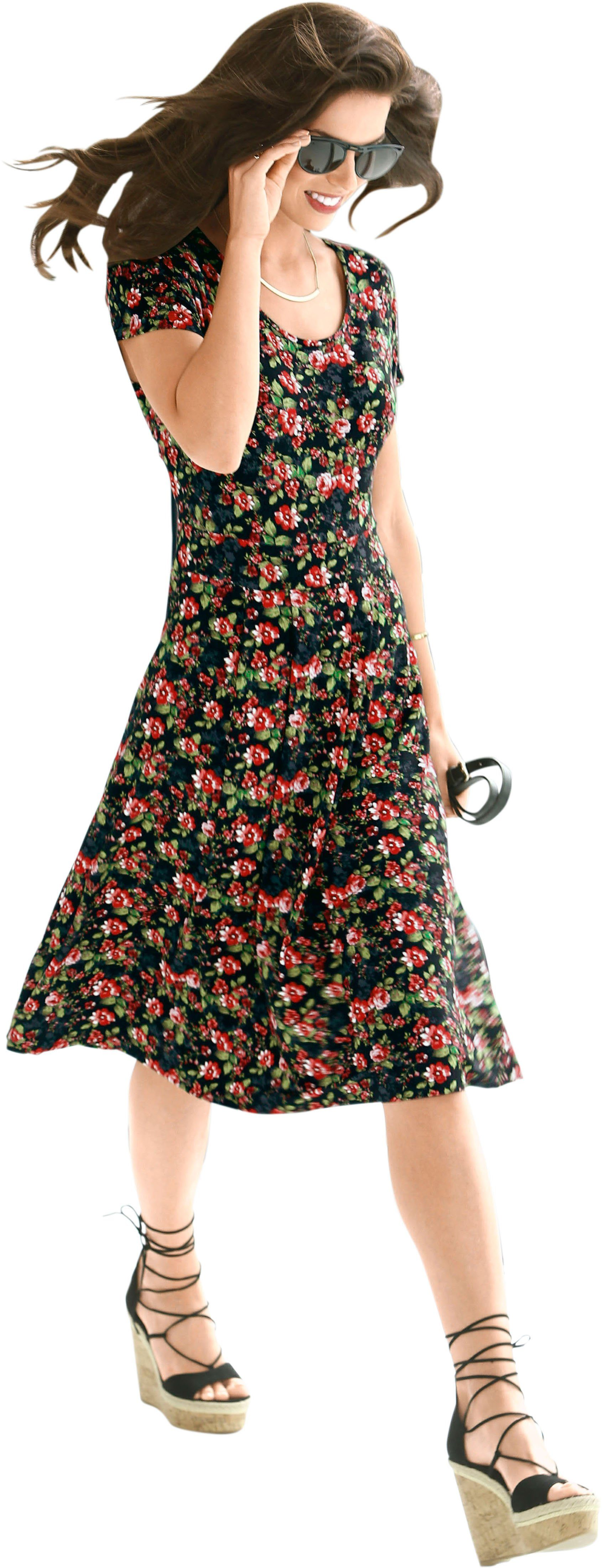 Alessa W. Jersey-Kleid in Schlupfform