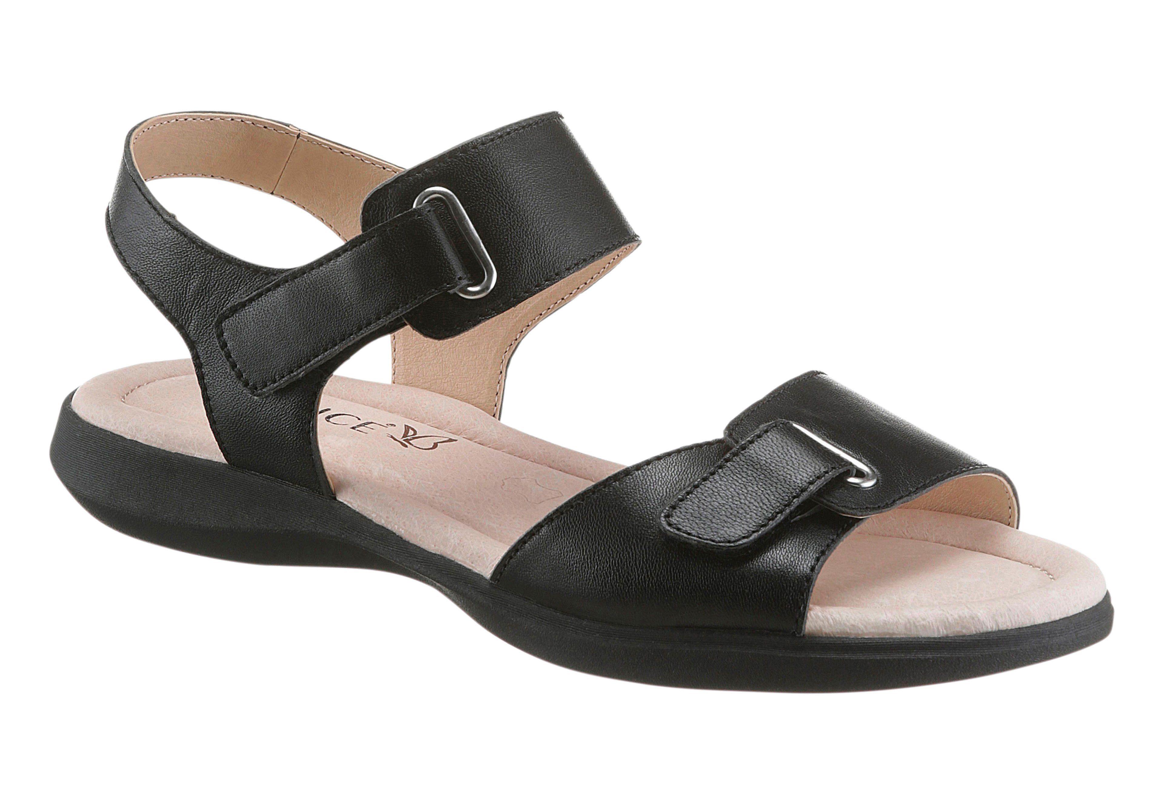 Caprice Sandalette mit rutschhemmender TR-Laufsohle, schwarz, schwarz